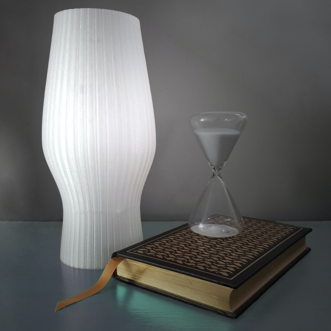 """The Torch, Large lamp, 8"""" diameter x 14"""" tall"""