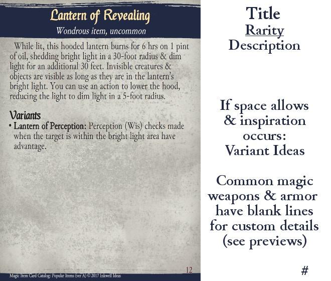 Magic Item Cards 5e Pdf
