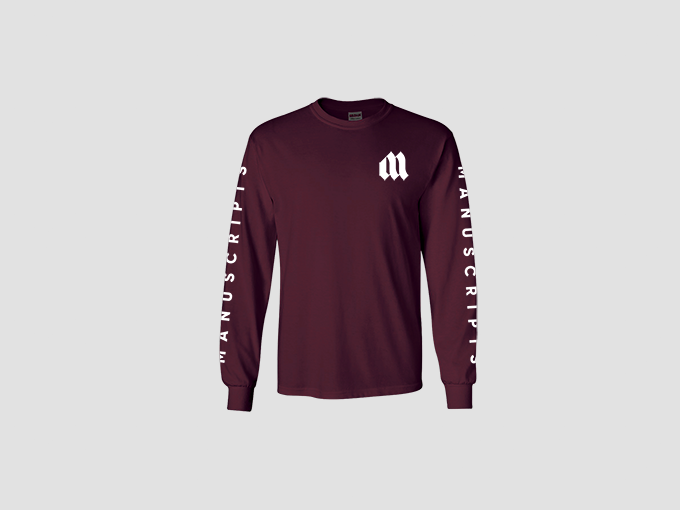 Long sleeve Manuscripts shirt
