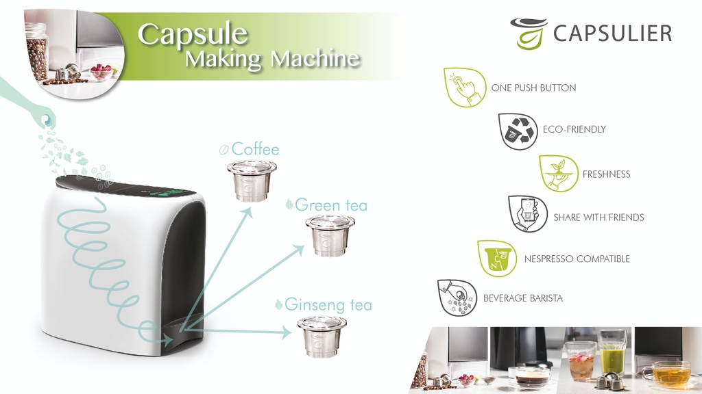 Capsulier: Fresh Nespresso coffee capsule making in a minute project video thumbnail