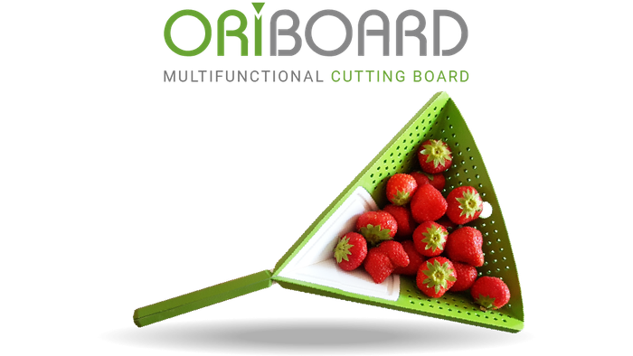 Oriboard will be your new indispensable fellow to prepare faster your favorite meal. It's a revolutionary multifunctional cutting board