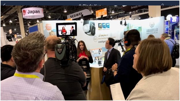 Interviewed by CBS at CES 2017