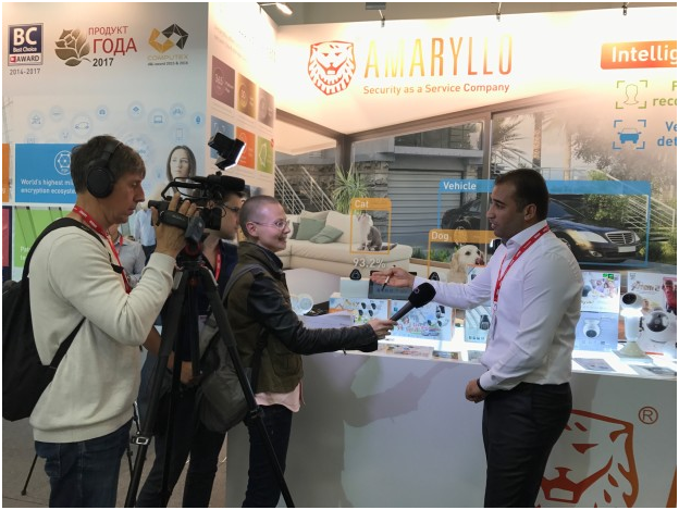 Interviewed by a German TV at IFA 2017