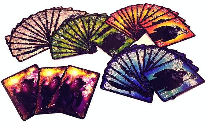 The 55 x Wizard cards (including 3 Archmage cards)