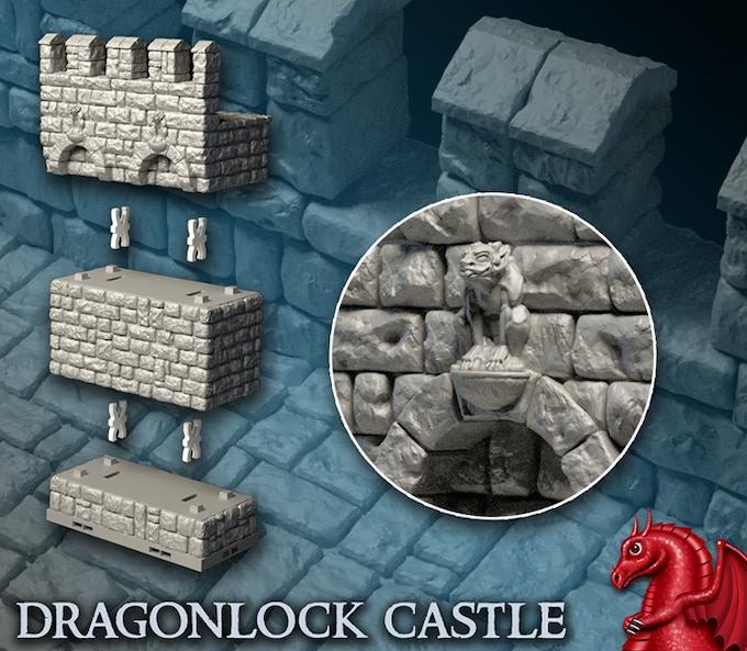 Digital render of DRAGONLOCK CASTLE.