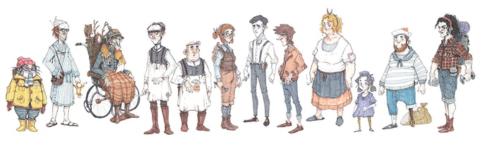 The ensemble (more detailed sketches down below)
