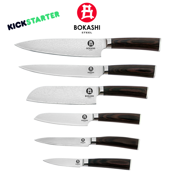 bokashi steel chef knives by oliver kickstarter. Black Bedroom Furniture Sets. Home Design Ideas