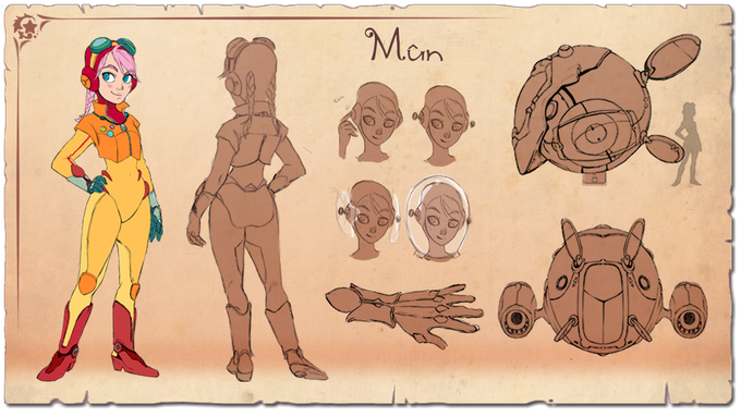 Mûn's concep design and some details from the character