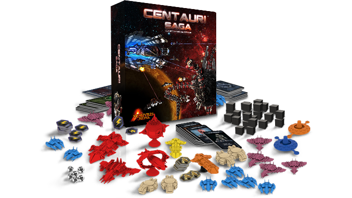 Centauri Saga is a Sci-fi, 4X, Co-op adventure board game for 1 to 4 players.