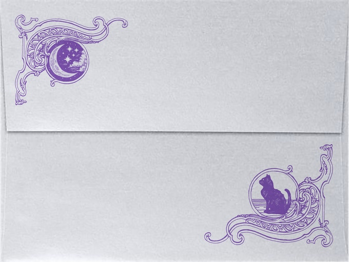 Printed Silver envelopes