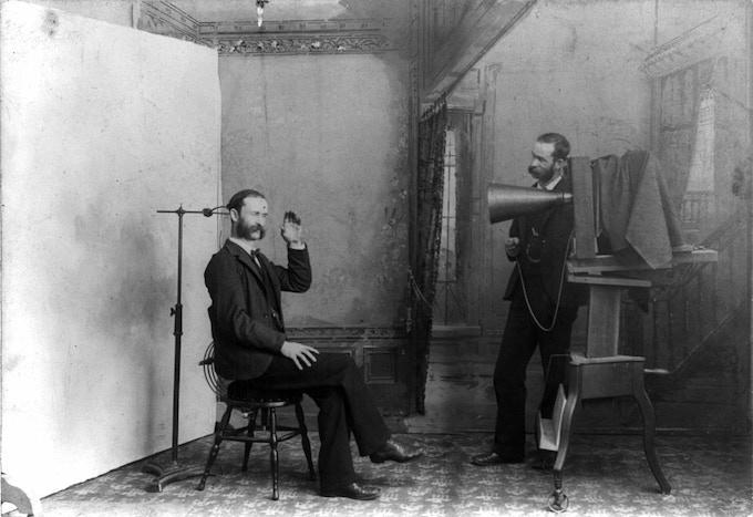 A wet plate photographer's studio, 1893