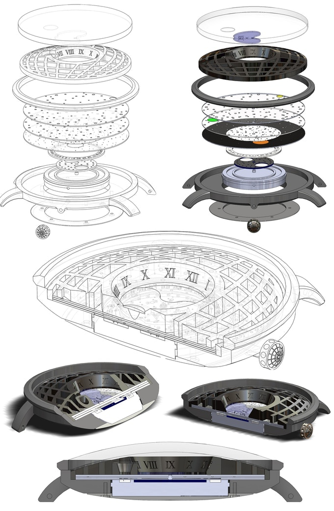 Exploded View of CAD Design