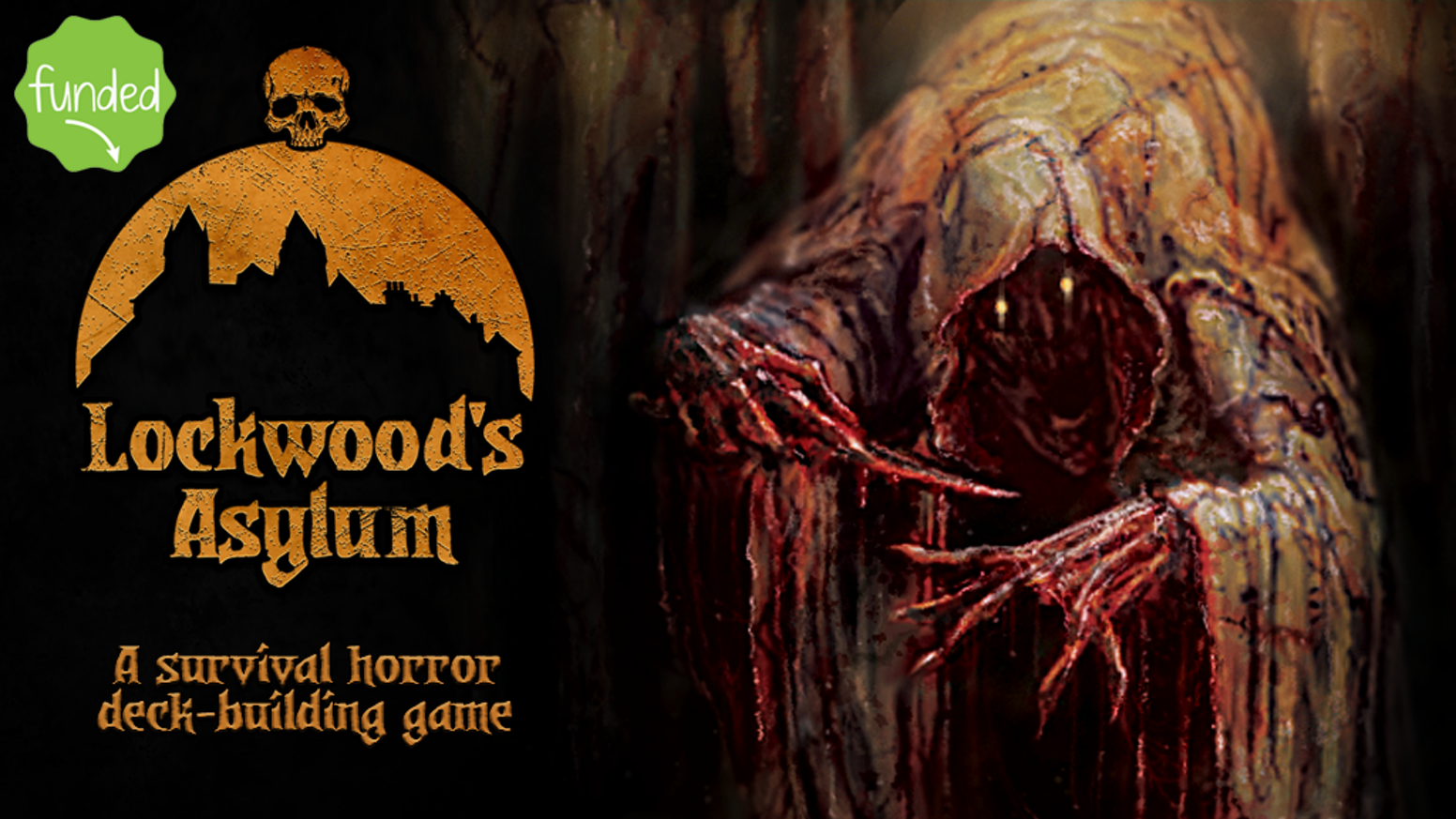 A survival horror deck-building game where you build the opponent's deck! Gather allies, fight monsters, stay alive!