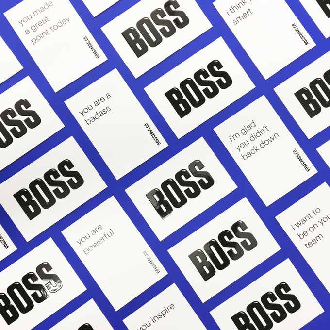 We're throwing in a couple BOSSCARDS too, so you can leave a note for a badass lady.