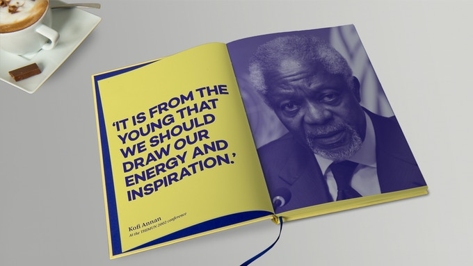 The book will contain many images and quotes from participants and guests such as former UN Secretary-General Kofi Annan, who spoke at the 2002 conference.