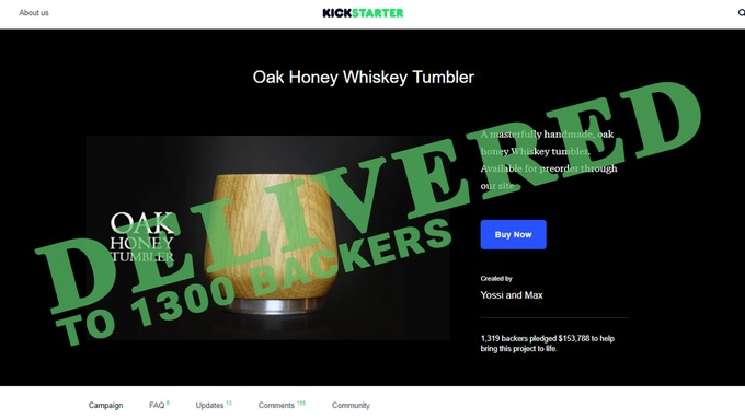 Oak Honey Whisky Tumbler