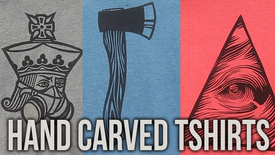 Hand Carved T-Shirts by Jackson Robinson