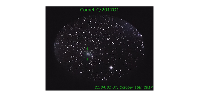 This comet could never have been spotted by a non-expert amateur without AFD