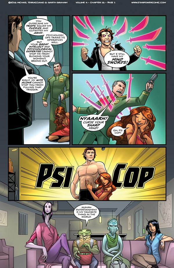 Psi Cop. Fighting Crime is a State of Mind!