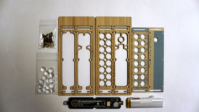 Zifnu PIXEL Flashlight Kit Components