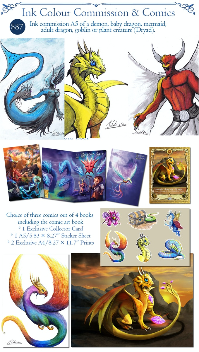Luminous Ages A Dragon Comic 1 3 Fantasy Commissions By Anthony