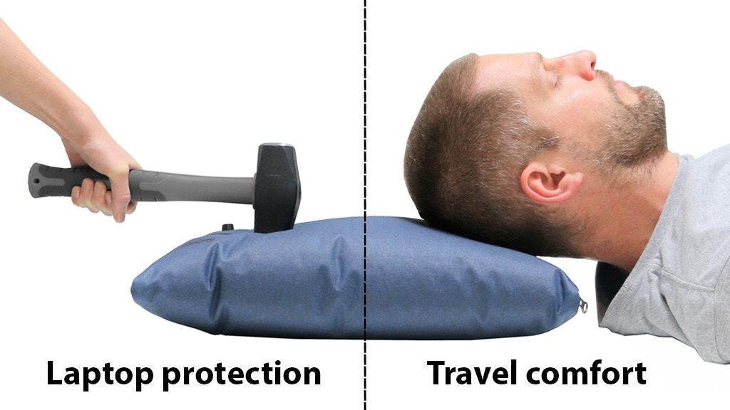Scrubba air sleeve for laptop protection; and travel comfort project video thumbnail