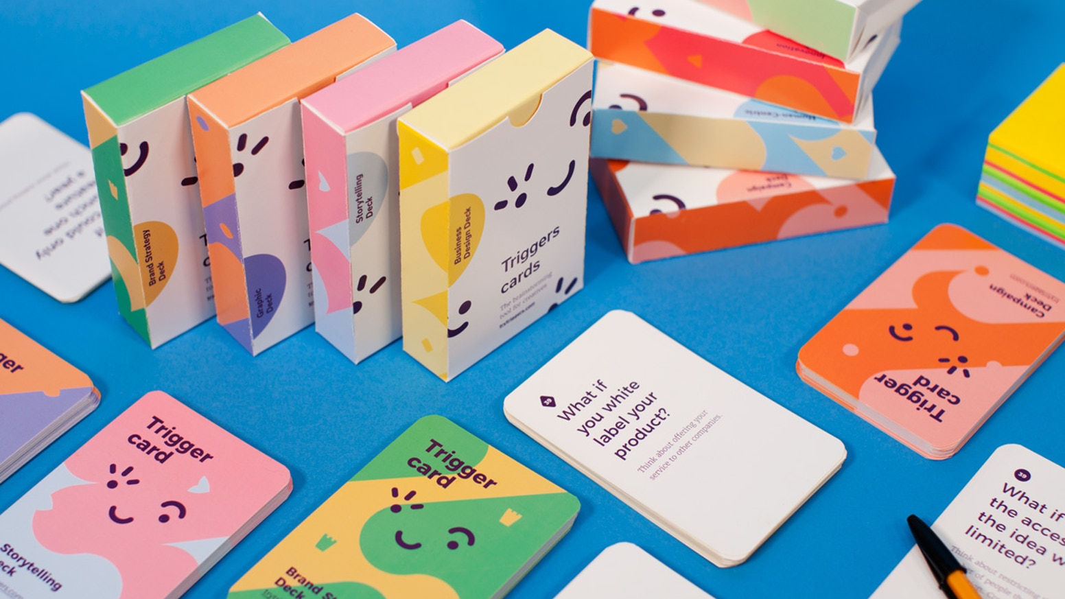 """Co-create, ideate and run productive brainstorming sessions with these """"what if"""" questions cards."""