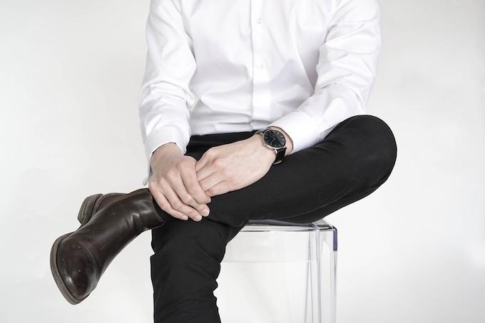 CM Classic, 40mm, black leather strap