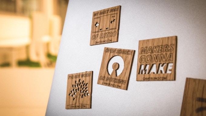 open source libraries and games (genuine wooden stickers!)