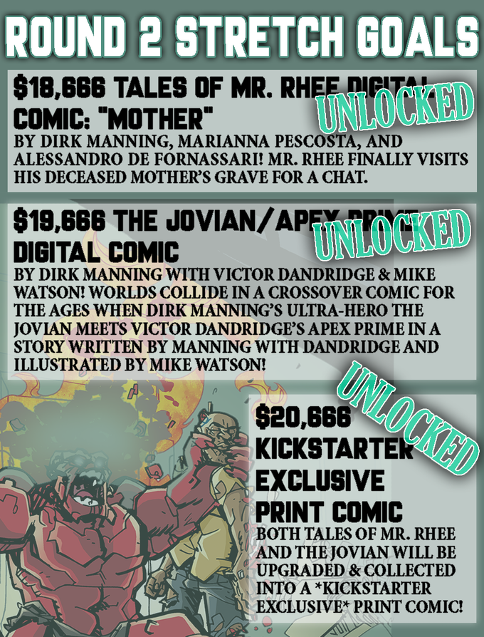 "***Only backers who pledged for the TALES OF MR. RHEE VOLUME 4 ""Everything Burns"" KS Exclusive Hardcover will receive stretch goals***"