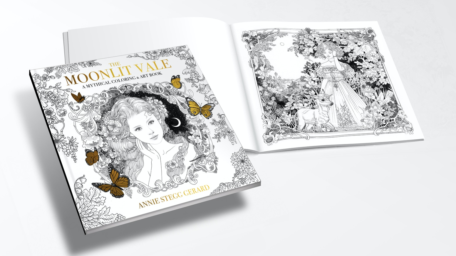 Relax and share in the meditative quality of art, through this enchanted coloring book.