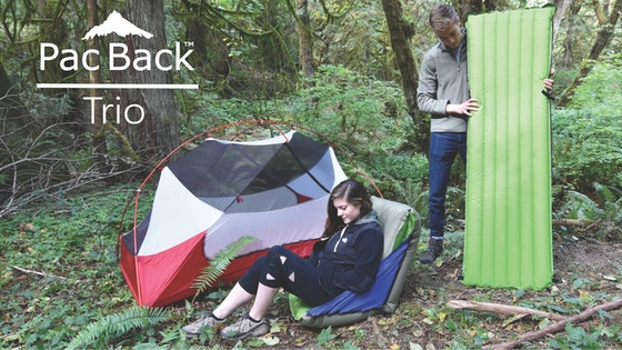 PacBack Trio: Backpacking Mattress, Chair, and Pillow in One