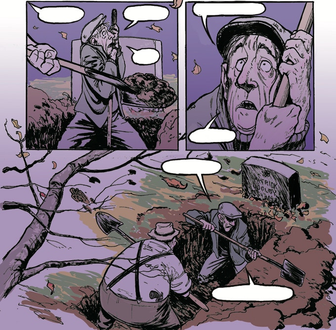 """""""The Grave of Patty Dooley"""" from Tommy Gun Banshee #1"""