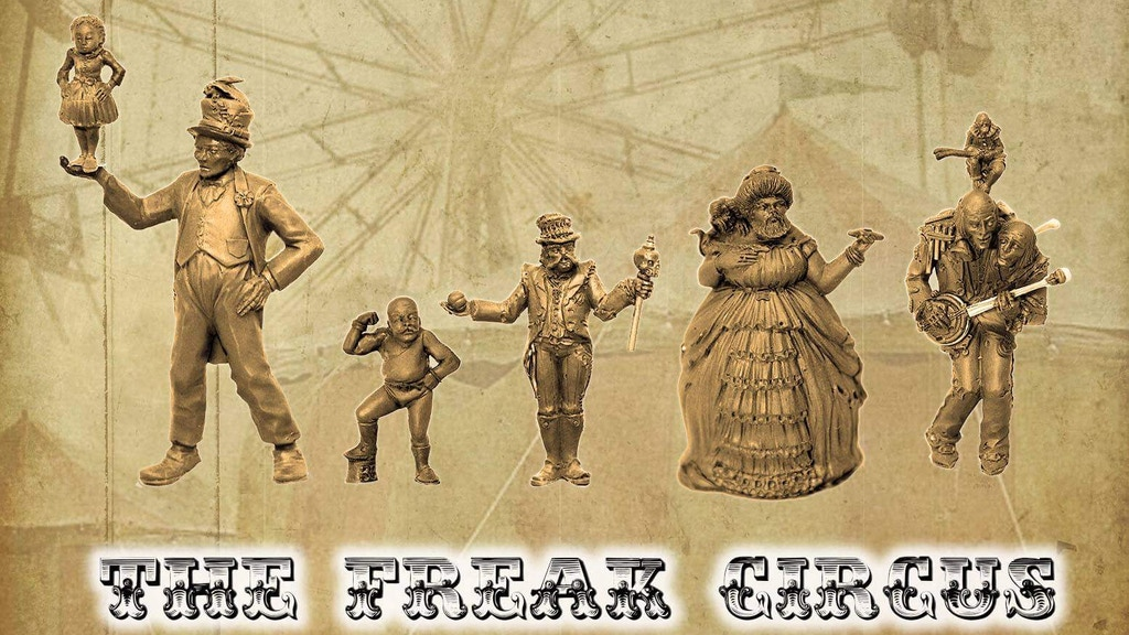Welcome to the Freak Circus! Home to bizarre and weird characters done in 1/35th scale and cast in high quality resin.