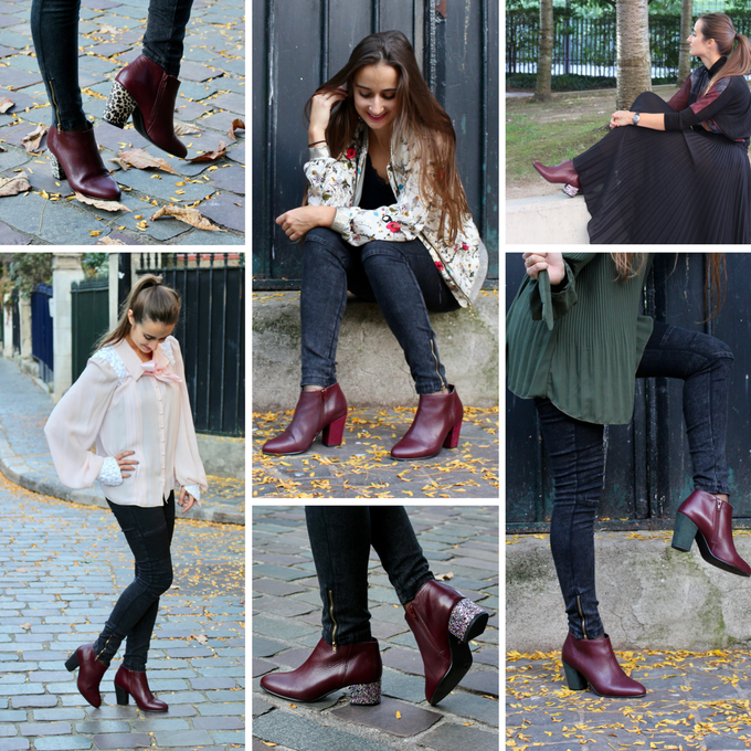 Bottines Epinettes - Bordeaux
