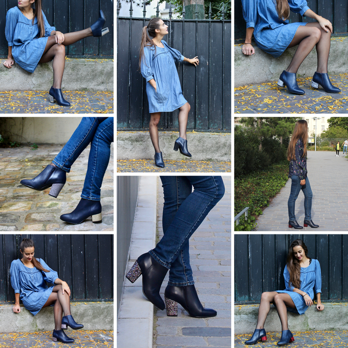 Bottines Clichy - Bleu marine