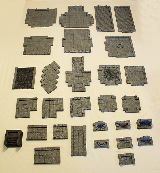 Modular Dungeon; 29 pieces