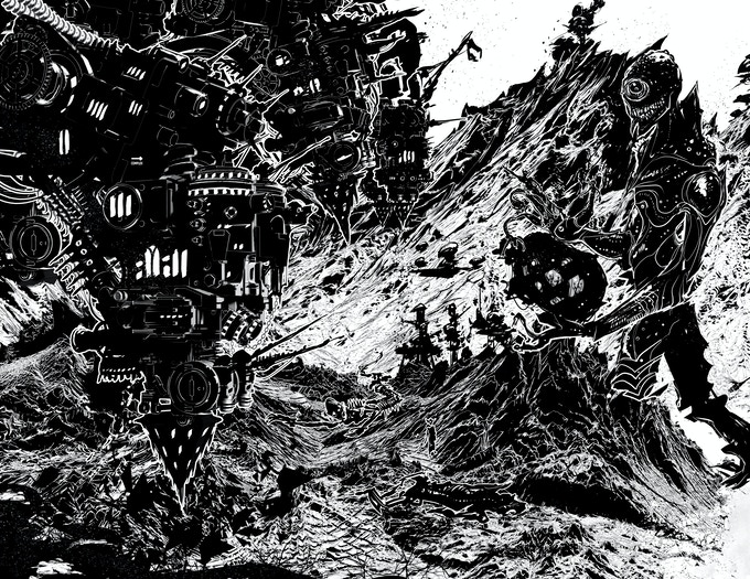 "Illustration for ""The Apocalypse Bringers."""
