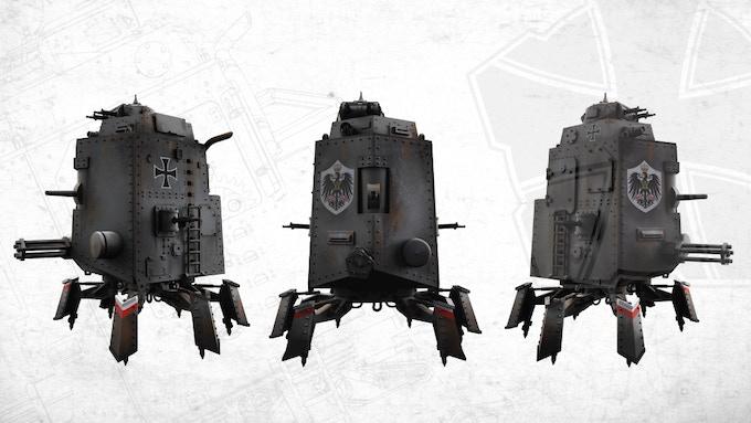 PzKpfl.I Schnauzer Armoured Walker Kaisergarde (Imperial Bodyguard,Grey)