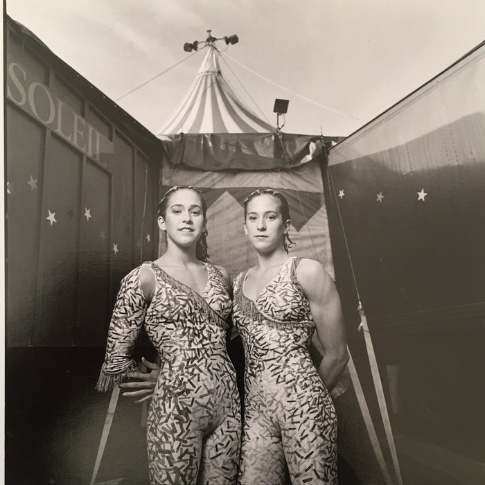 Twins Karyne + Sarah Steben of former Cirque fame enchant with spectacular movement & music telling the true story of their aerial life