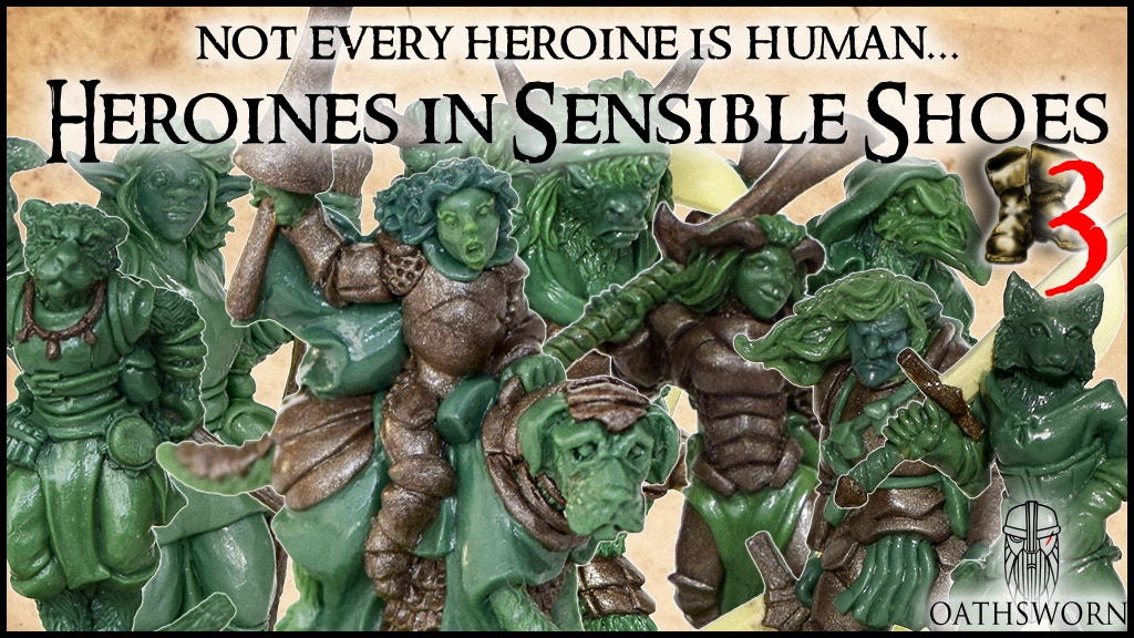 Heroines in Sensible Shoes 3 - miniatures for RPGs project video thumbnail