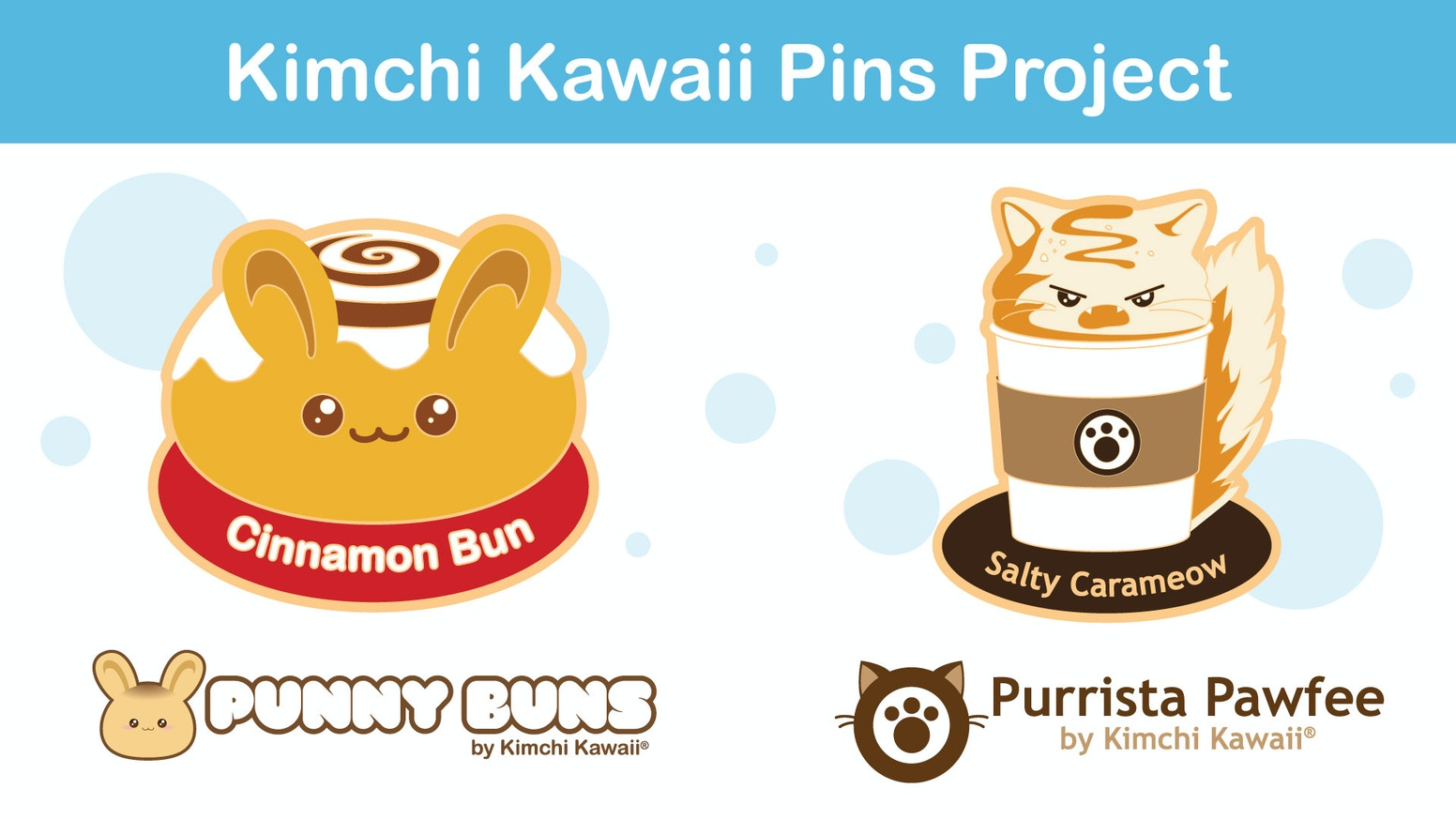 The Punny Buns and Purrista Pawfee bunnies and cats are joining forces to create fun enamel pins.