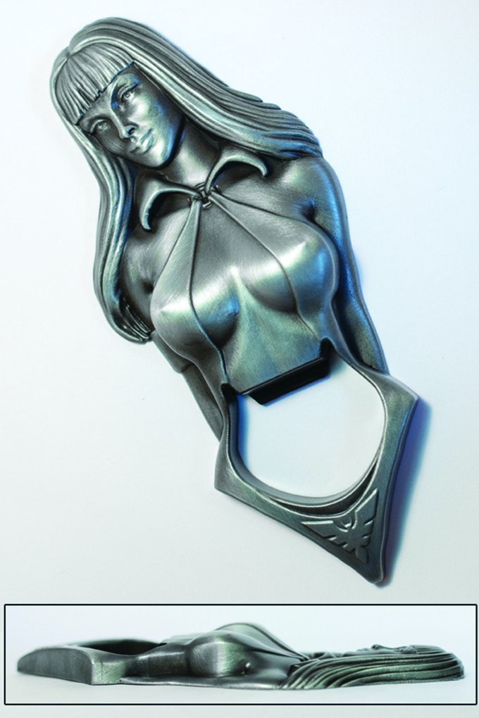 Vampirella Sculpted Metal bottle Opener