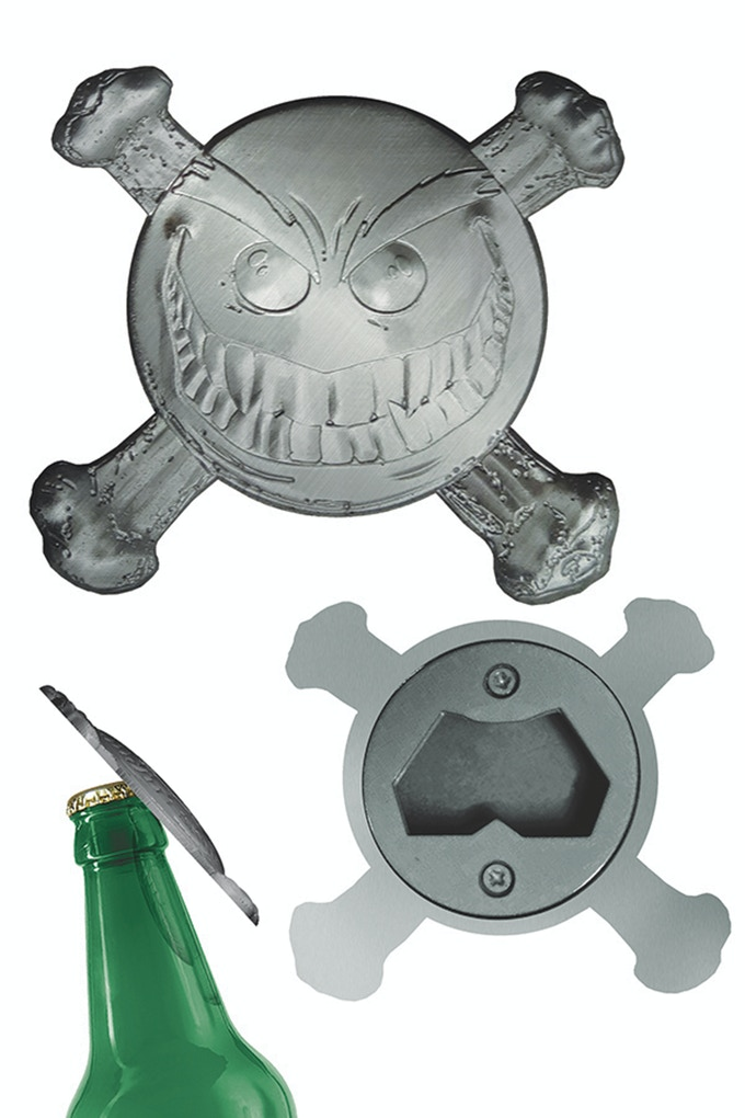 Smiley The Psychotic Button Sculpted Metal Bottle Opener