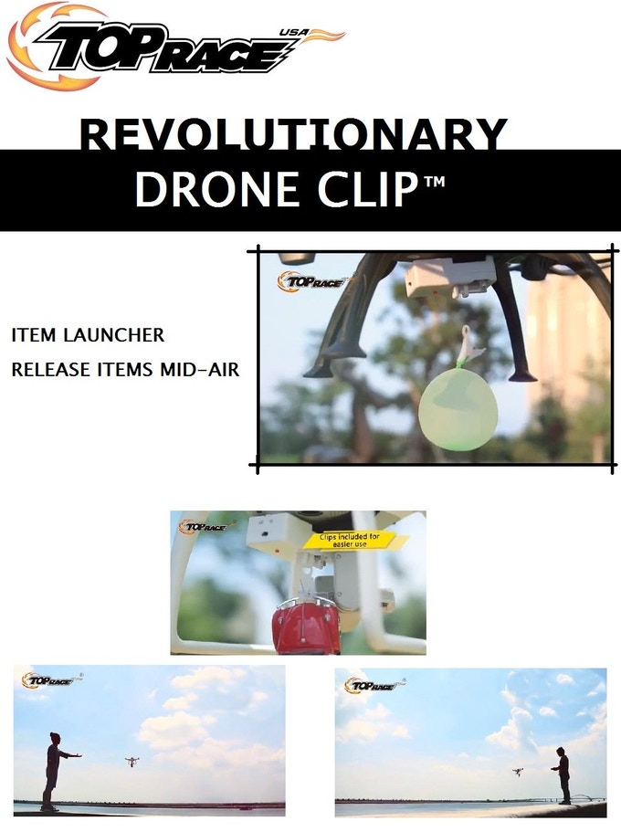 Drone Clip Launch and Delivery