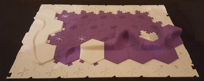 HexT - 3D printable, RPG / Battlefield Modular Terrain Tiles