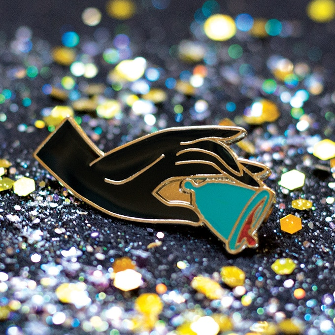 """""""A Cup in the Hand"""" Enamel Pin"""