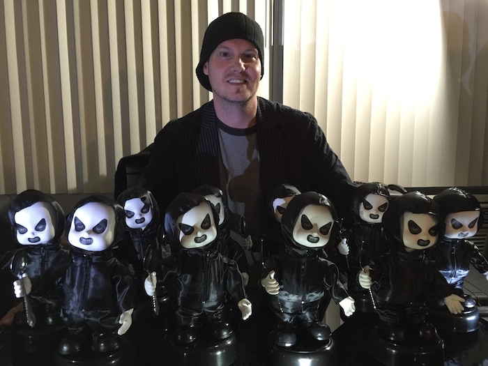 Chris Vick with the finished Automatons