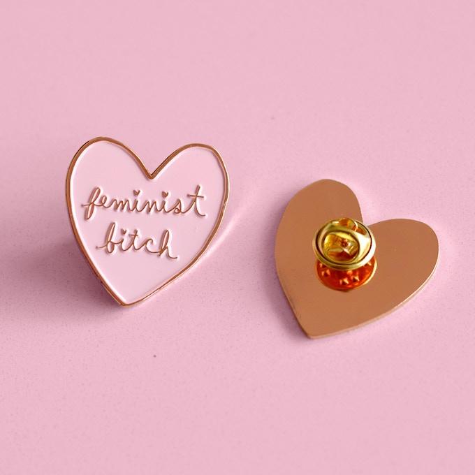 Feminist Bitch lapel pin