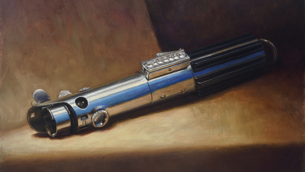 Traditional oil paintings of Star Wars Lightsabers project video thumbnail